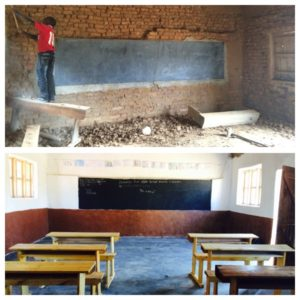 Klassrum - före & efter